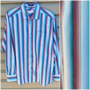 Tommy Bahama Sz XL Blue Red Striped Shirt